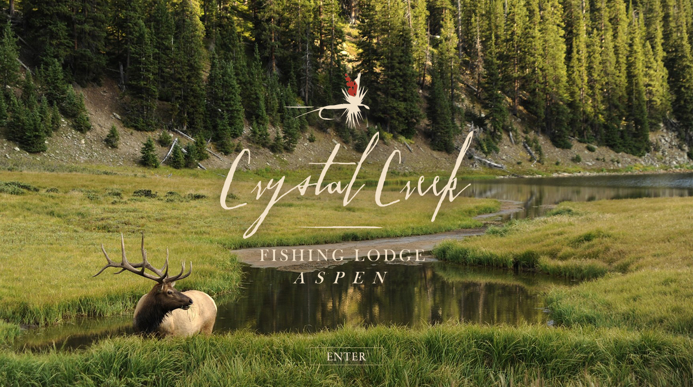 Crystal Creek Fishing Lodge; Website Landing Page Concept