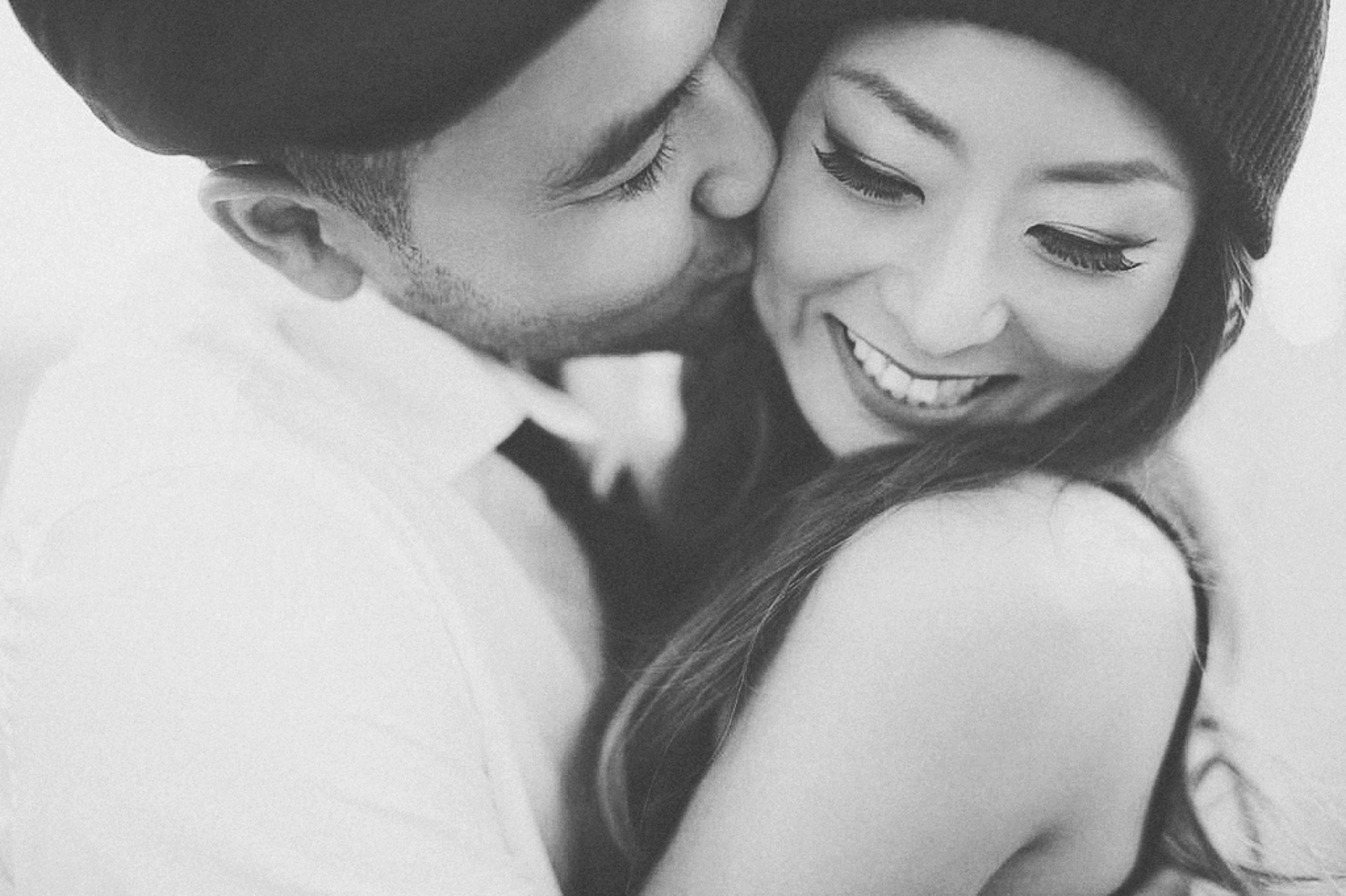 Lani with her husband Justin - Photo by: This Modern Romance // Lani's     beanie     from    Nordstrom.com