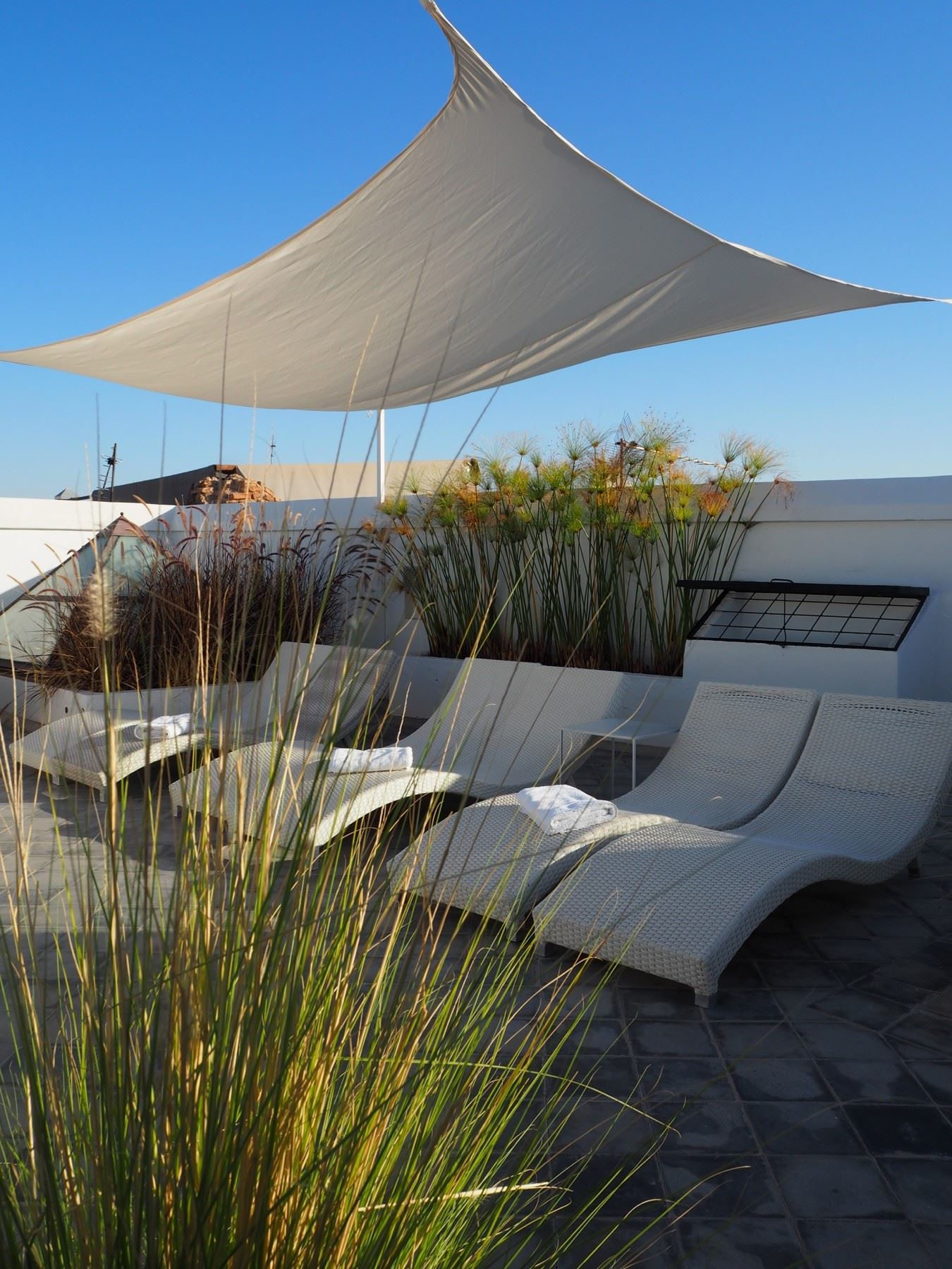 Rooftop Seating at Riad Sapphire