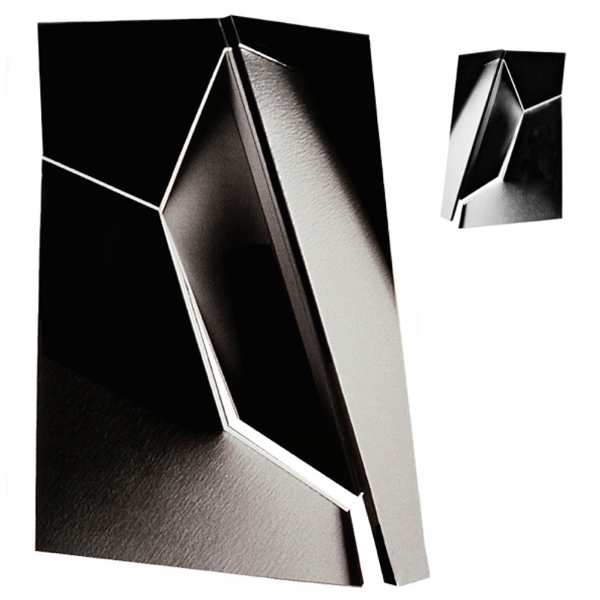 "Black White #1, 40""W x 53""H x 11""D, Front and Back Views, 2-Sided, Chromatic Photographs, Photography: Sculpture, 1982"