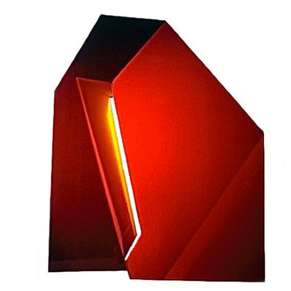 "Red Yellow 10, 24""W x 29""H x 7""D, Front View, Cibachrome Photograph, Photography: Sculpture, 1982"