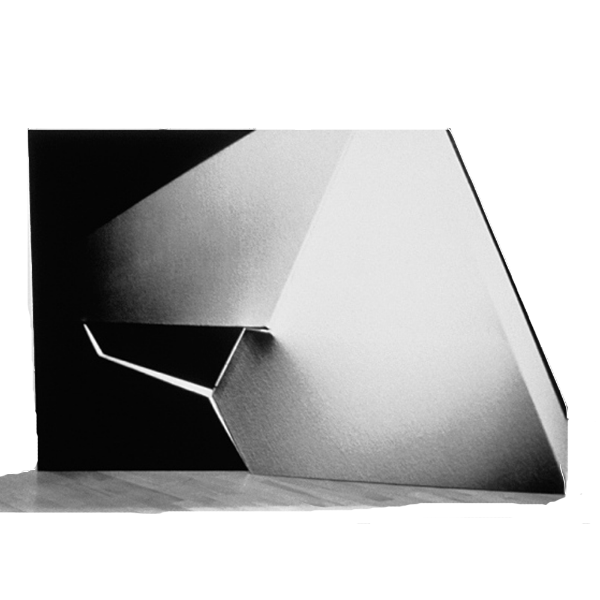 "Black White 2,    60  ""  W x 40  ""  H x 6  ""  D, Double Sided   Chromatic  photographs,  Front View,  gata board, polymer, Photography: Sculpture, 1984     Collection:    Hillwood Art Museum, Greenvale, NY"