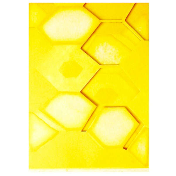 "Gold #5, 5  ""  W x 7  ""  H x 3/16  ""  D, Double Layered Aquatint Print, 1963"