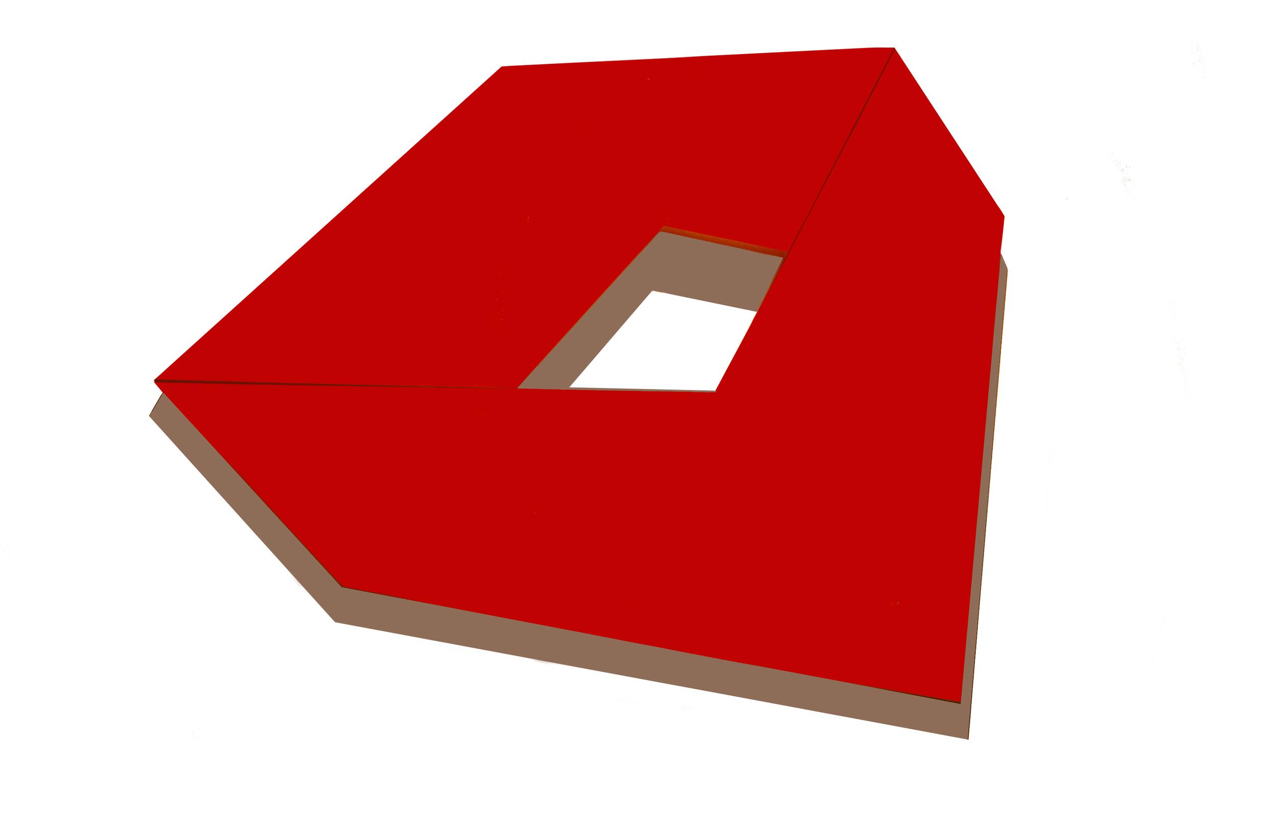 "Sentra, 66  ""  W x 50  ""  H x 8  ""  D, Shaped Canvas, Polymer, Canvas, 1979"