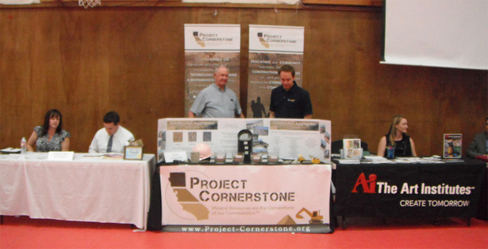 Project Cornerstone's booth at Mountain Empire High School Career Day.