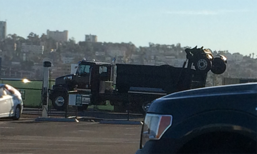 Granite Construction Company laying asphalt at the San Diego International Airport. Photo by Crystal Howard.