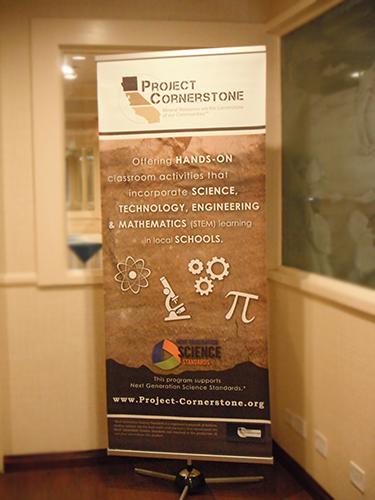 Project Cornerstone sign.