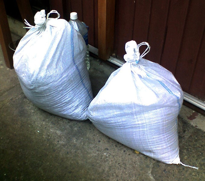 Photo: Sandbag. Courtesy of WikiMedia Commons.