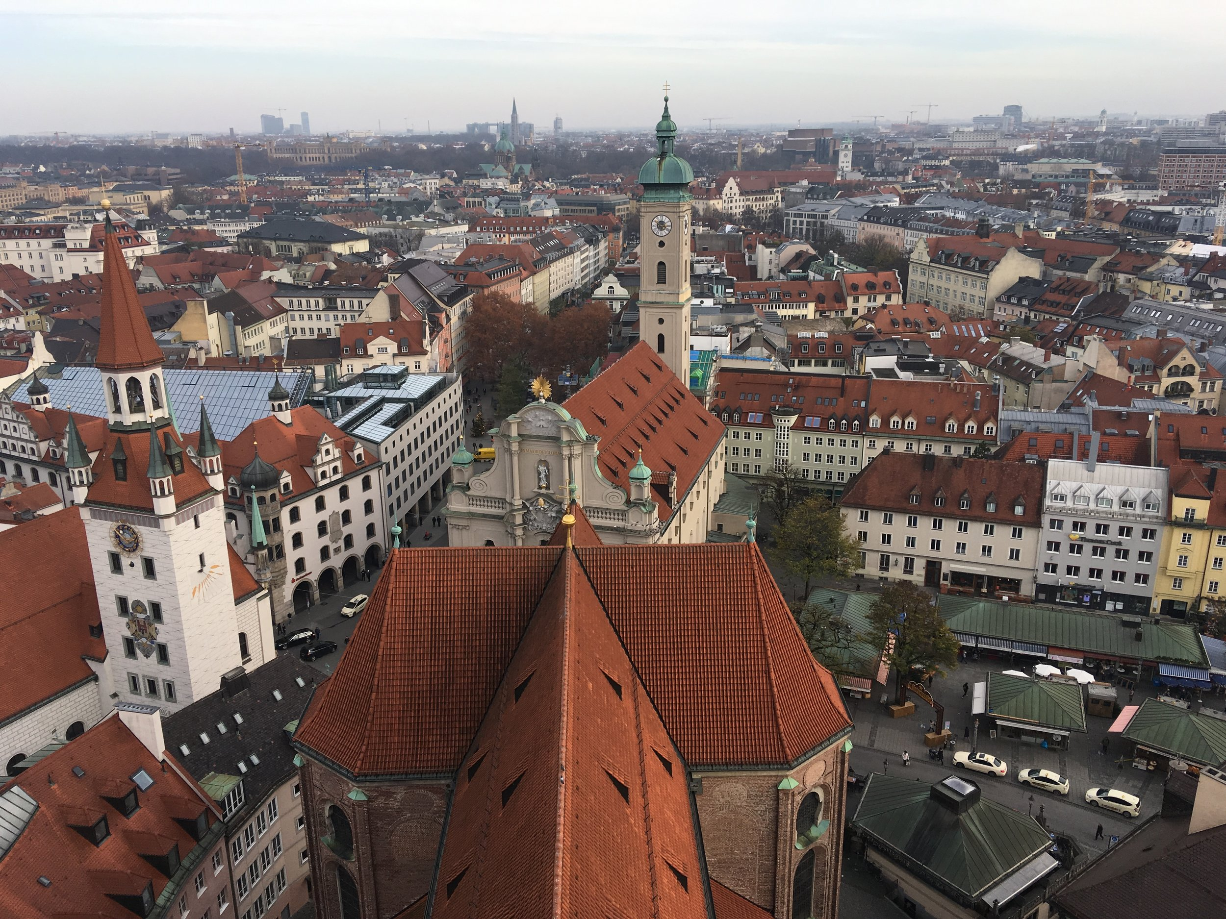 A view of Munich from the top of St. Peter's church