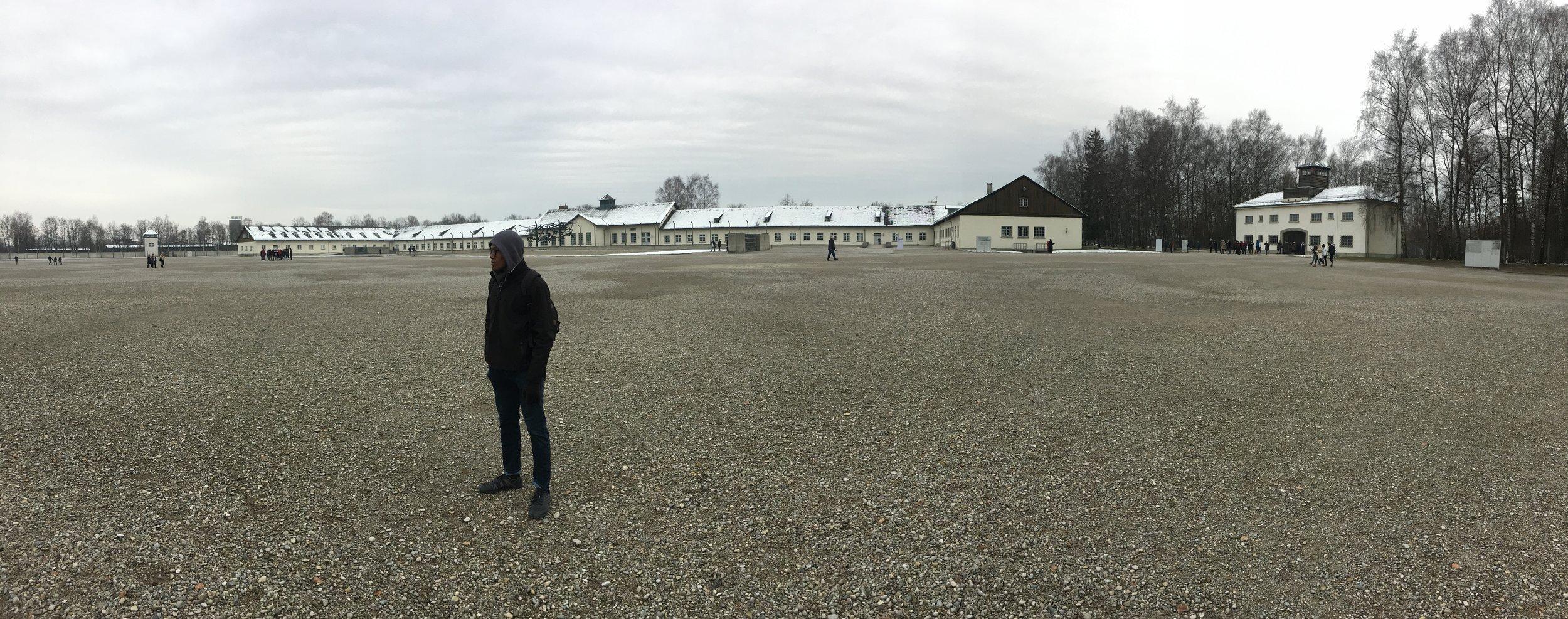 Dachau courtyard, photo by Pavel R.