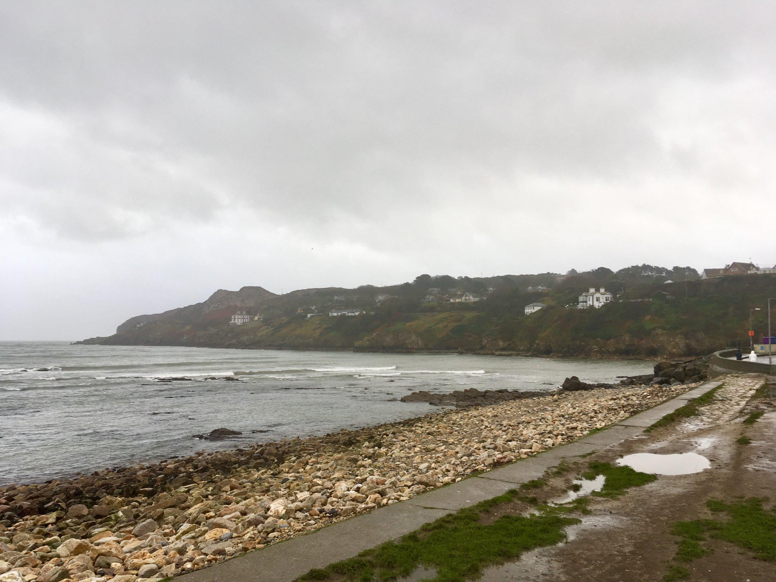Irish Sea coast in Howth