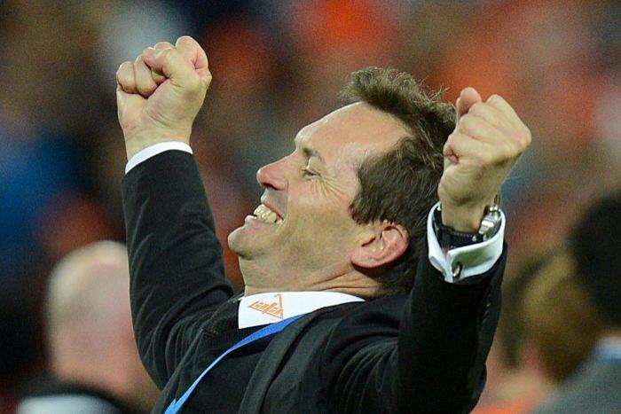 Feelin' kinda Mulvey. The Brisbane Roar coach tastes the ultimate success.