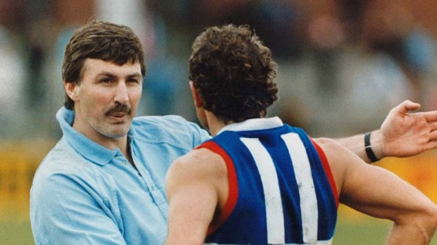 Back in the day.. Malthouse coaching Footscray in 1989.