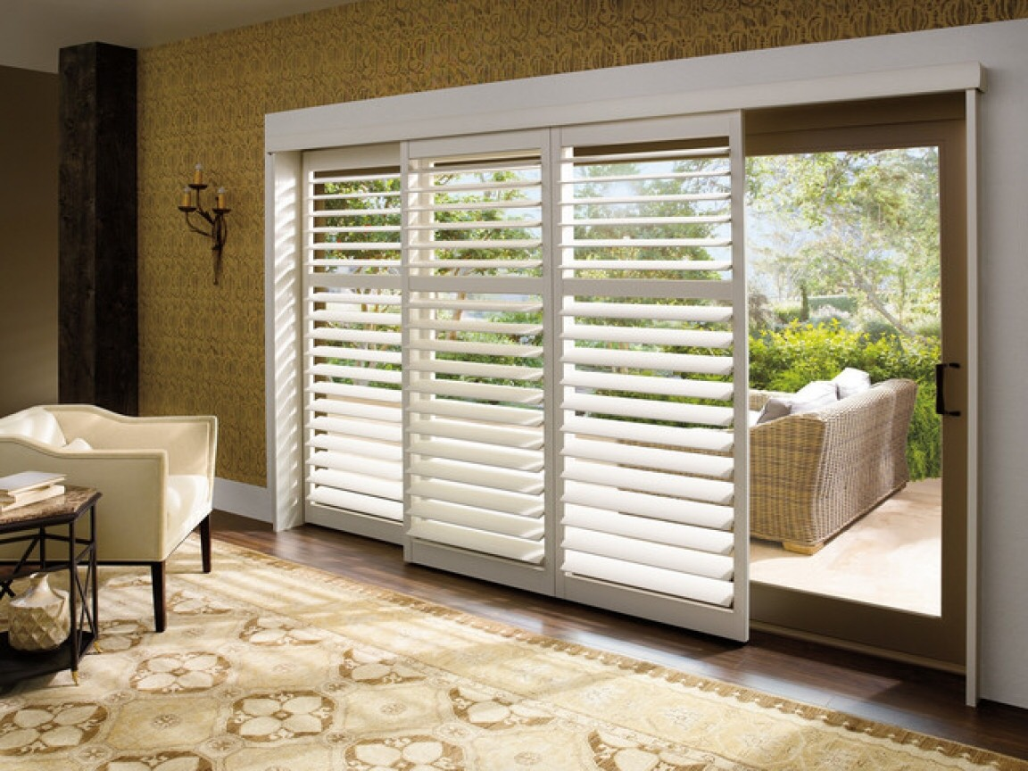 Faux wood Bi-Pass shutters