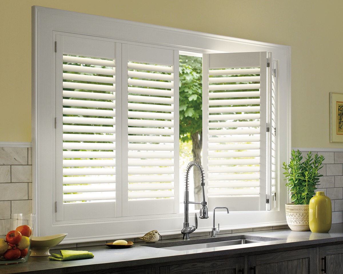 Kitchen sink shutters