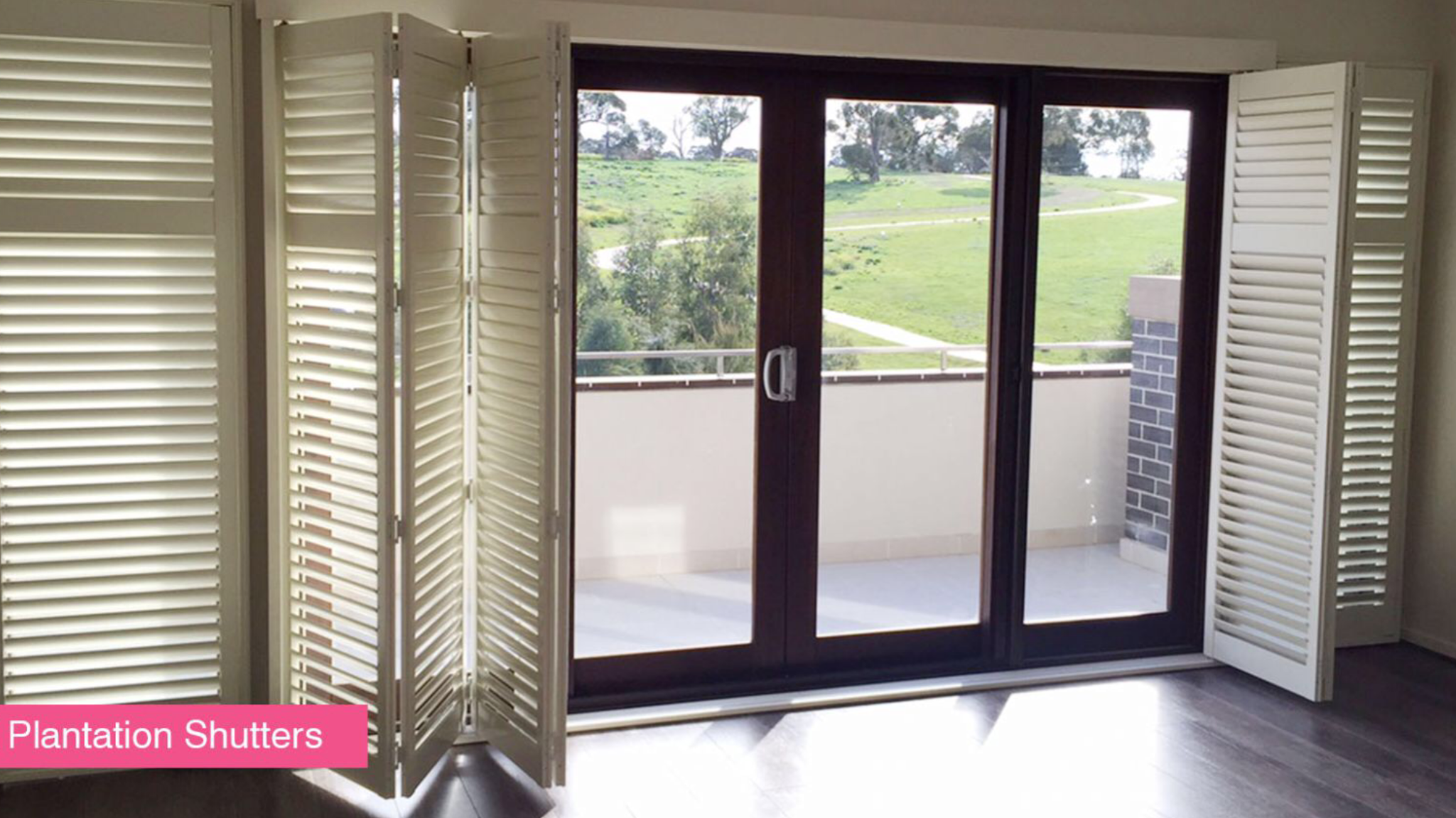 Bi-fold patio door shutters