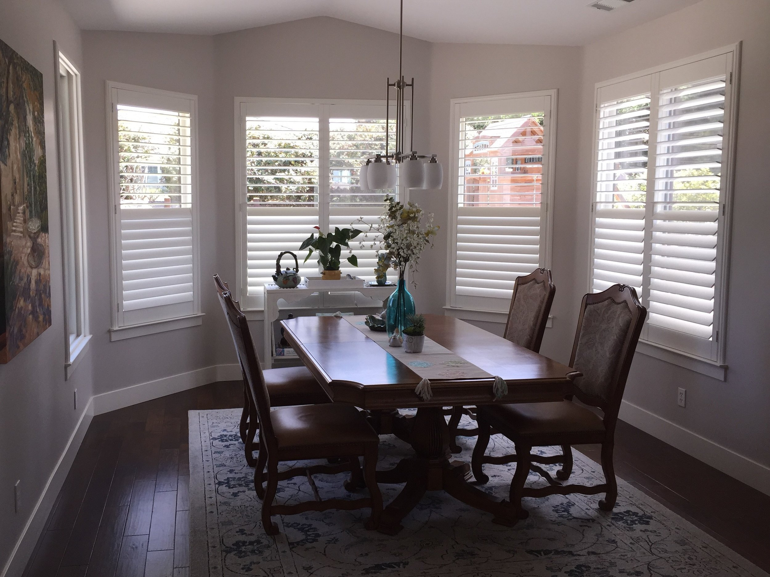Shutters in kitchen bay