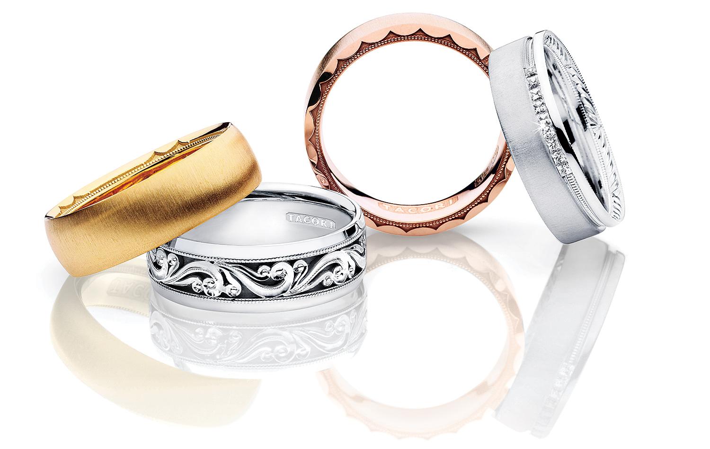 Tacori mens engraved Wedding Bands
