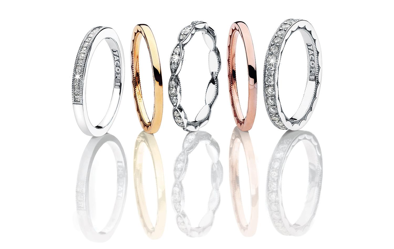 Tacori diamond Wedding Bands