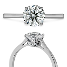 Hearts On Fire Solitaire engagement ring