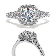 Hearts On Fire pave style engagement ring