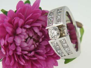 Custom Brilliant Cut Engagement Ring
