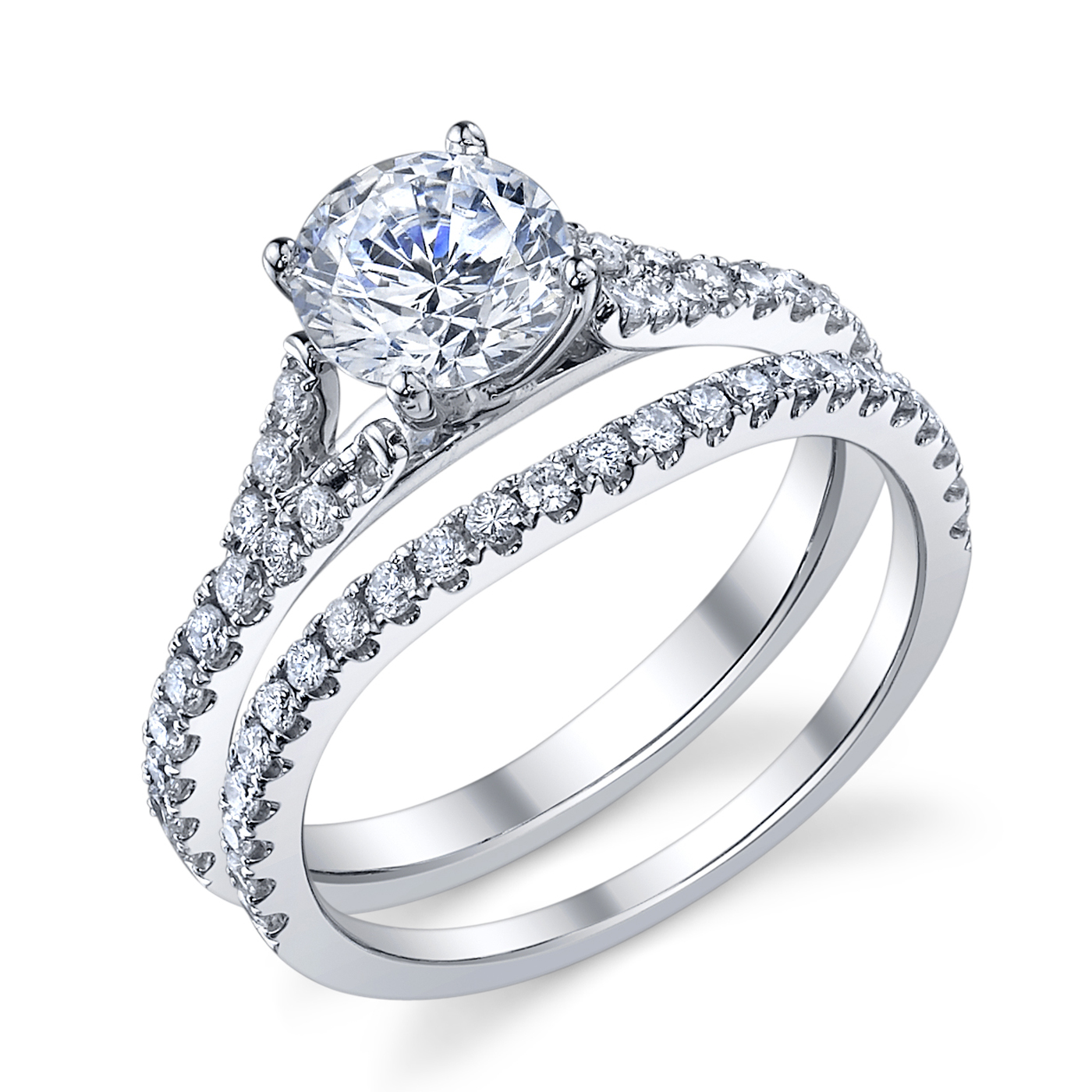 ENGAGED BY HUSAR  Style No, RA_265  Vintage Split Bridal Set  Starting at $1399