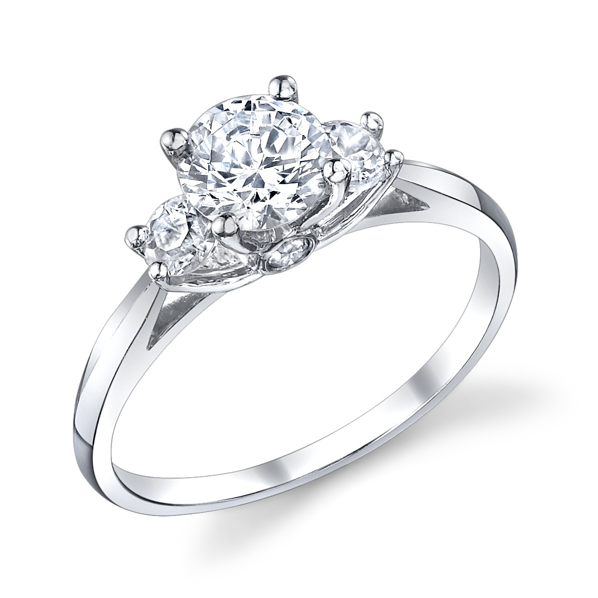 ENGAGED BY HUSAR  Style No, R_9281  Three Stone Engagement Ring  Starting at $2049