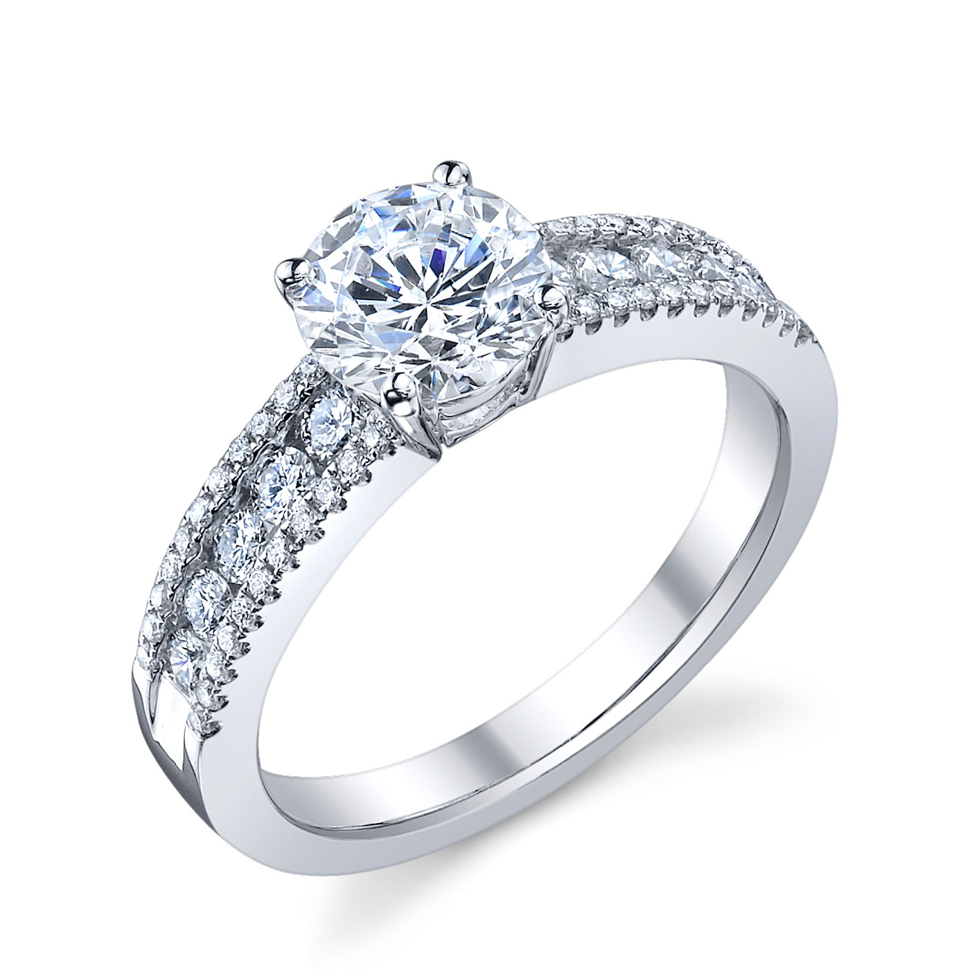 ENGAGED BY HUSAR  Style No, RA_335  Three Row Engagement Ring  Starting at $2699