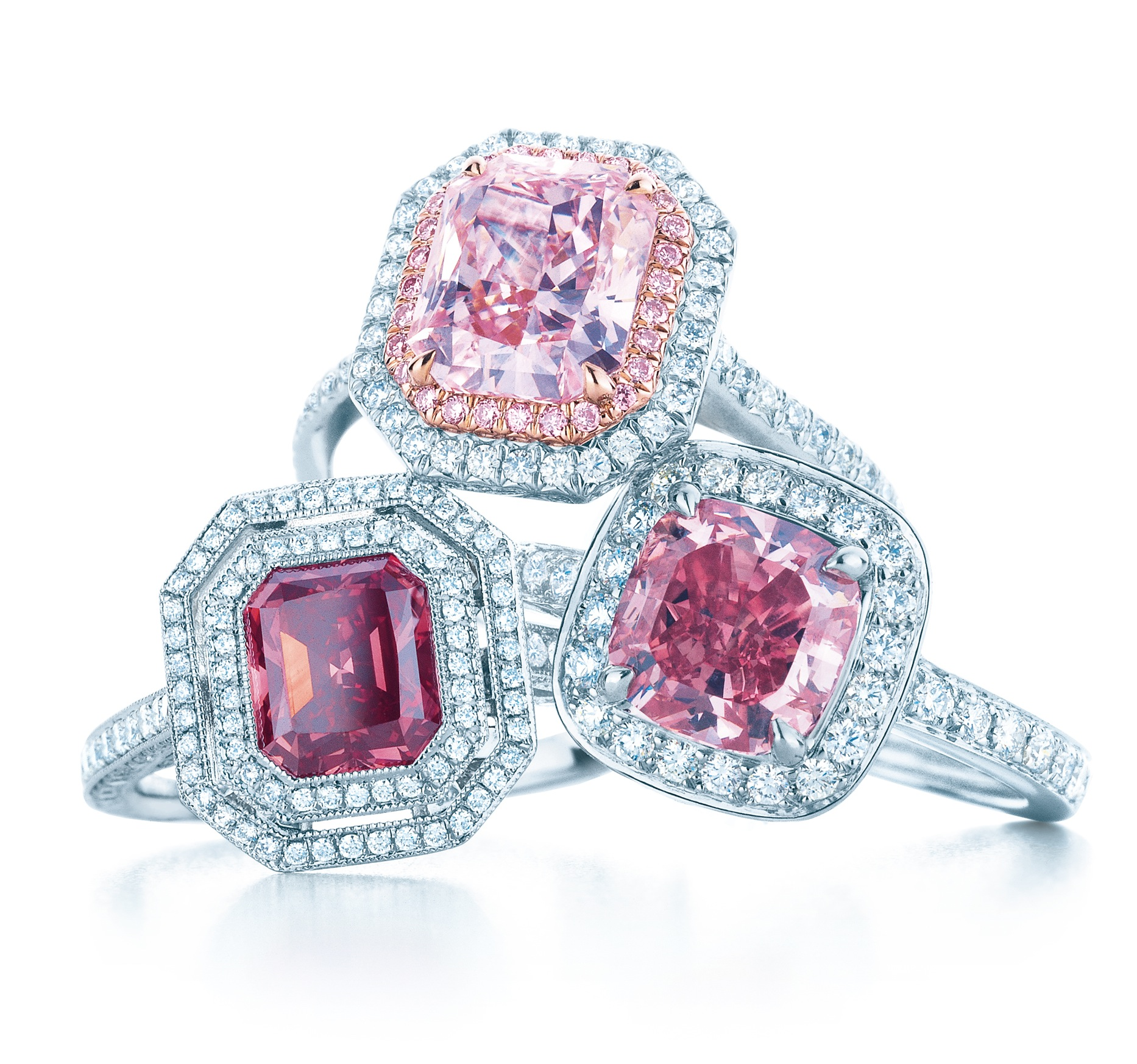 pink diamond rings