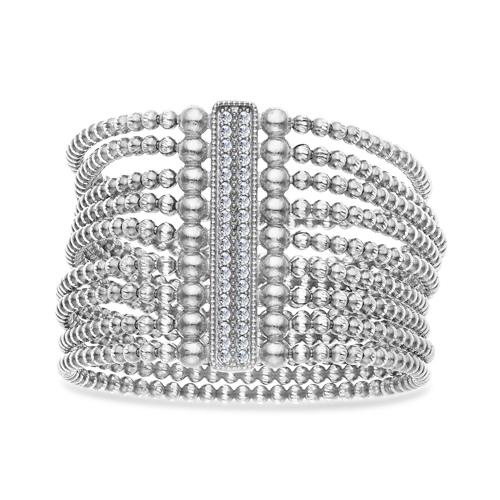 FourKeeps - 9 Row Bracelet, Vertical Bar - $365