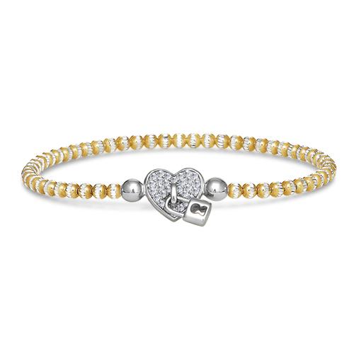 FourKeeps - 1 Row Bracelet, Locked Heart - $100
