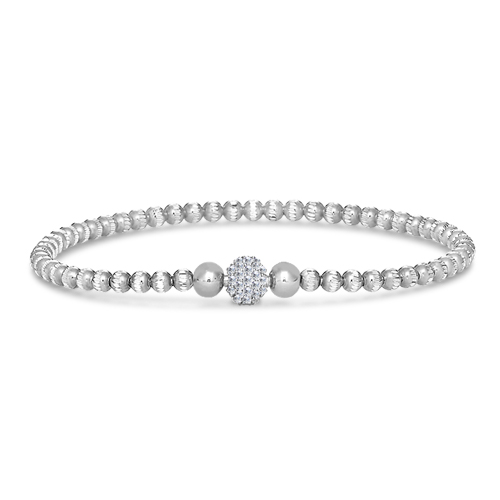 FourKeeps - 1 Row Bracelet, Pave Ball - $75