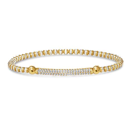 FourKeeps - 1 Row Bracelet, Channel Bar - $90