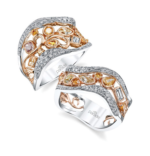 REVERIE  whimsical fancy colored diamonds in artful designs