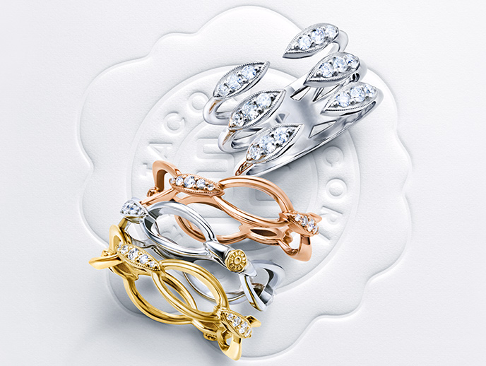 Ivy Lane  - Add instant sophistication to your style with designs from the Ivy Lane collection, whether worn solo or stacked. The signature Tacori crescent designs create a winding lane of pure classicism, accented with diamonds and set within silver, rose or yellow gold. You don't need to dress to impress, because you let your Tacori do the talking.