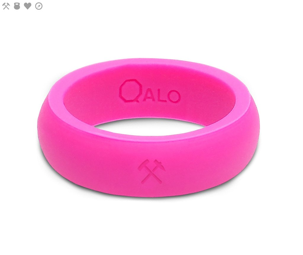 Qalo Women's Pink Silicone Ring $19.95