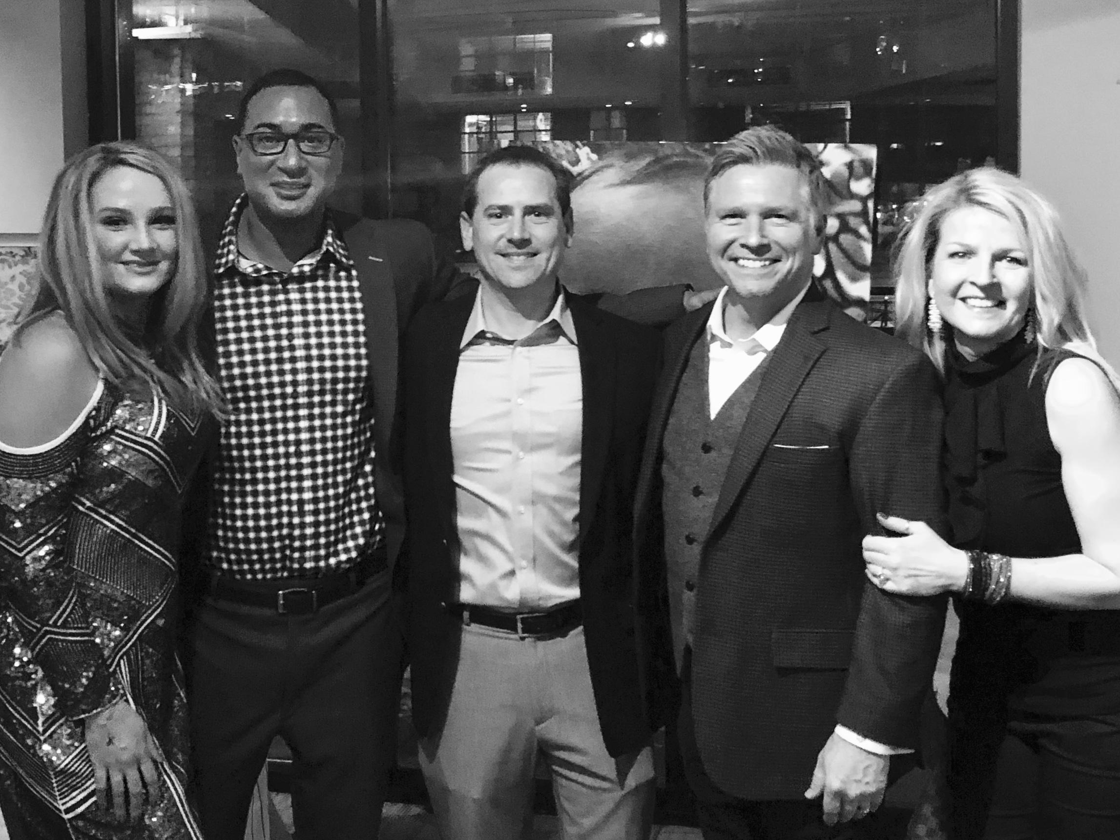 (L to R) Connie Shaikh (Paxton Andrews Foundation Board), Omar Shaikh (SURG Restaurant Group), Vince Vitrano (Today's TMJ4), with Craig Husar & Danielle Husar