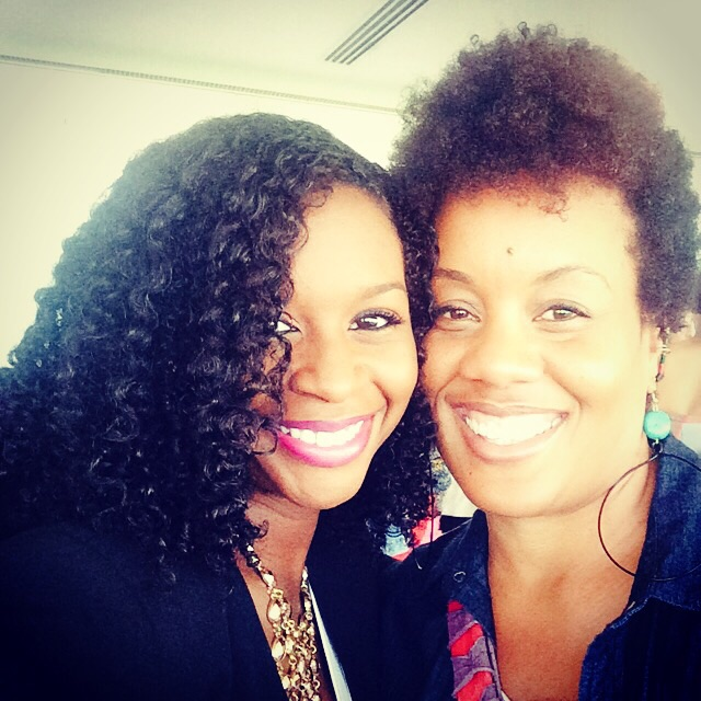 Natural hair blogger  Mahagony Curls  and Lila of CGNC
