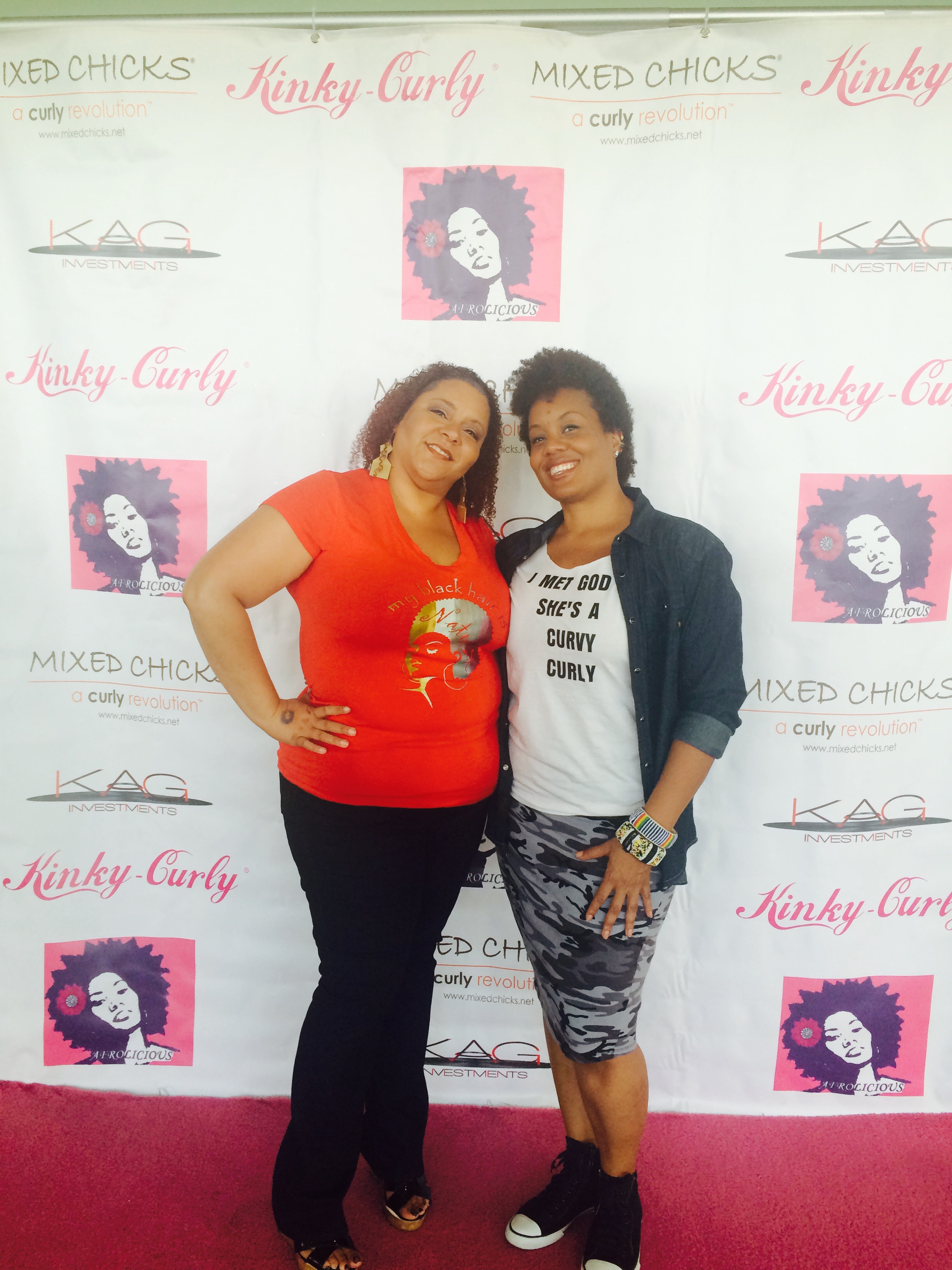 Lydia Boyd of La Curly Girls and Lila, founder of CGNC.