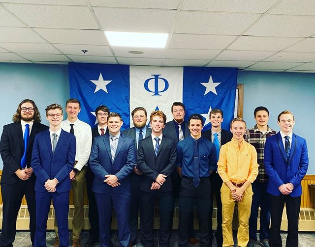 We inducted 14 great guys to our chapter last night. We're all excited for your journey to becoming Brothers. #proudtobeaphi #phideltatheta
