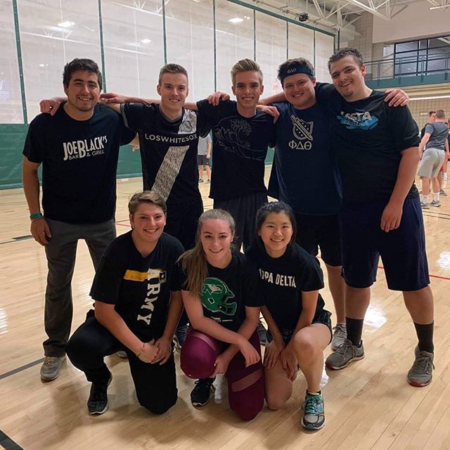 Another good season for intramurals, our volleyball team made it to the playoffs but they were knocked out last night. It was a good season team, at least hockey is right around the corner. #proudtobeaphi
