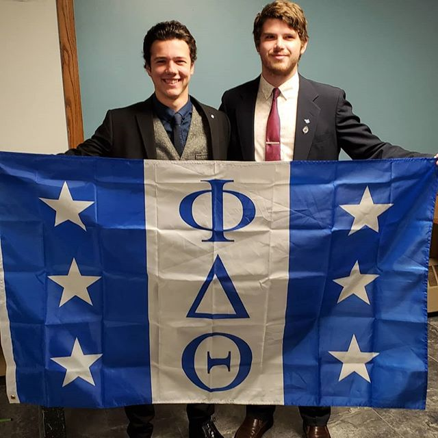 We had our big/little ceremony last night. Congrats to the guys who added to their families! #proudtobeaphi