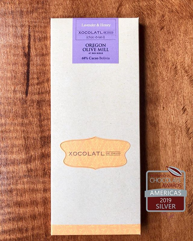 A little over a year ago the fine people @durant_oregon asked me about creating a bar with their estate grown lavender. Now I'm not a huge fan of lavender in food, but I am always up for a challenge. The result is something I am very proud of. A mix of 68% chocolate from Bolivia, @durant_oregon lavender & EVOO and some @blonde_girl_honey. And last week it earned a silver medal from @chocawards! Grab one at the @durant_oregon tasting room or at our online store. Link in bio