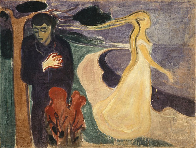 "Edward Munch, ""Separation,"" 1896. Public domain image."