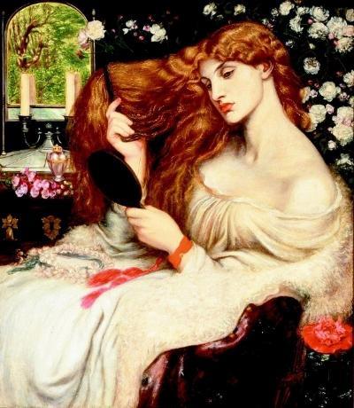 """Lady-Lilith"" by Dante Gabriel Rossetti. CC BY-SA 3.0 courtesy of the Delaware Art Museum,www.delart.org."