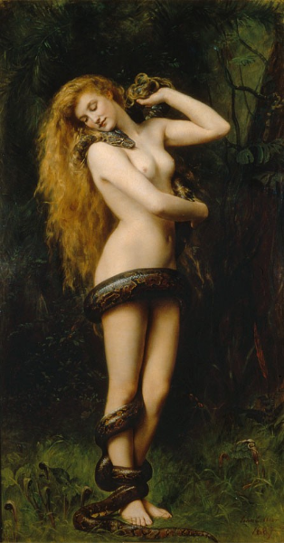"""""""Lilith"""" by John Collier. Public domain image."""