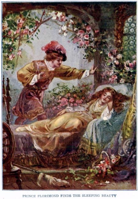 """Prince Florimund Finds the Sleeping Beauty."" Project Gutenberg etext 19993, Public Domain image."