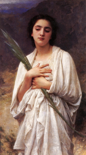 """The Palm Leaf"" by William-Adolphe Bouguereau. Public Domain Image."