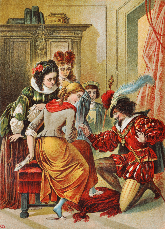 """""""Cinderella"""" by Carl Offterdinger, c. late 19th C. Public Domain image."""